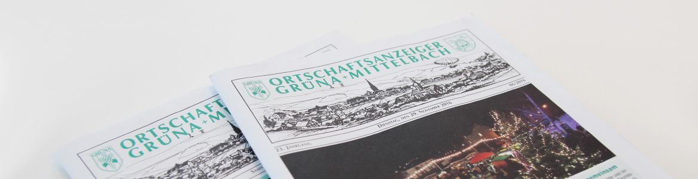 Ortschaftsanzeiger Gruena und Mittelbach - Mugler Druck und Verlag