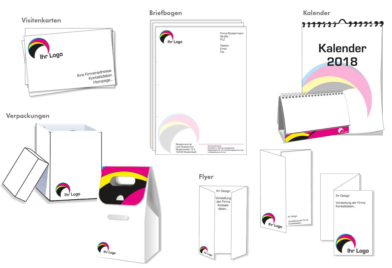 Muster Druckprodukte - Mugler Druck und Verlag